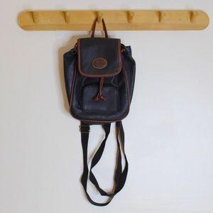 Vintage 90s Pebbled Vegan Leather Mini Backpack